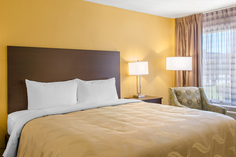 Quality Inn & Suites Laurel single bed guest room